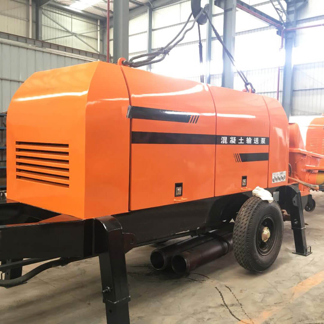60m3 mobile concrete trailer pump with electric motor