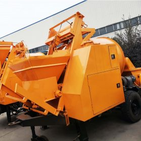 concrete mixing pump machine for pumping and mixing concrete