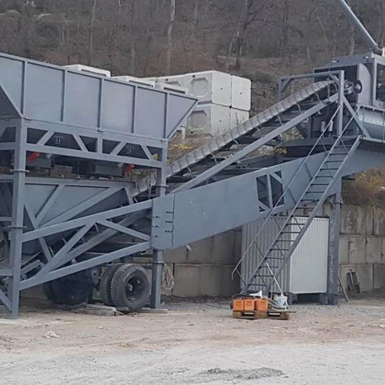 50m3 mobile batching plant