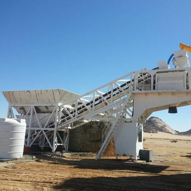 90m3 mobile batching plant