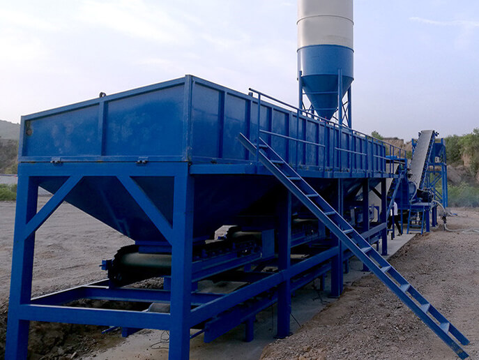 Myanmar 500tons pug mill for road base mixing